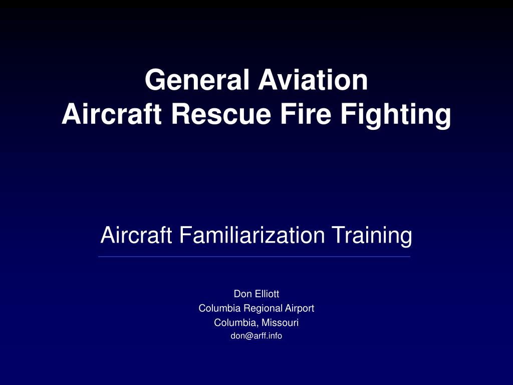 general aviation aircraft rescue fire fighting l.