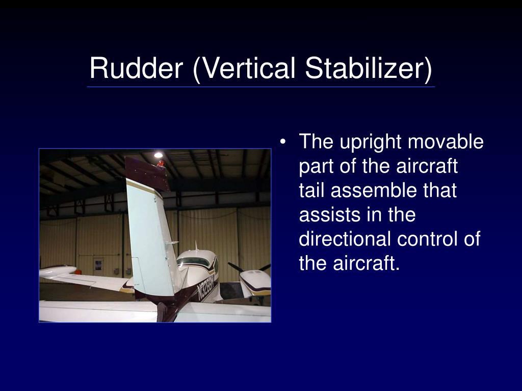 Rudder (Vertical Stabilizer)
