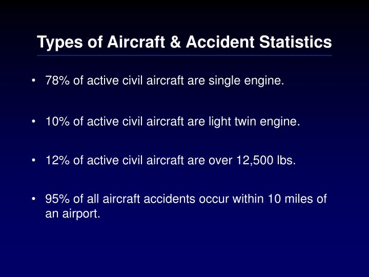 Types of aircraft accident statistics