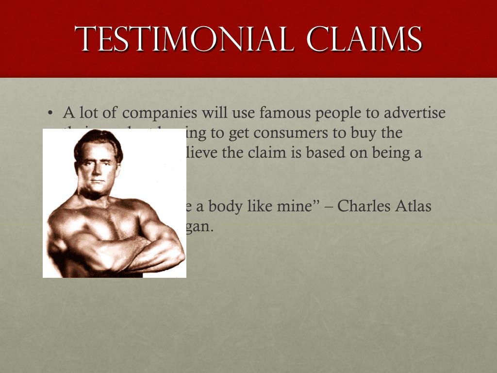 Testimonial Claims