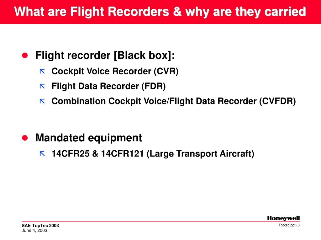 What are Flight Recorders & why are they carried