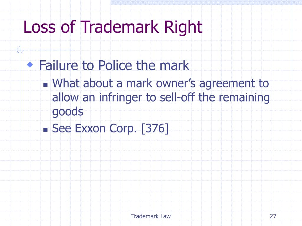 Loss of Trademark Right