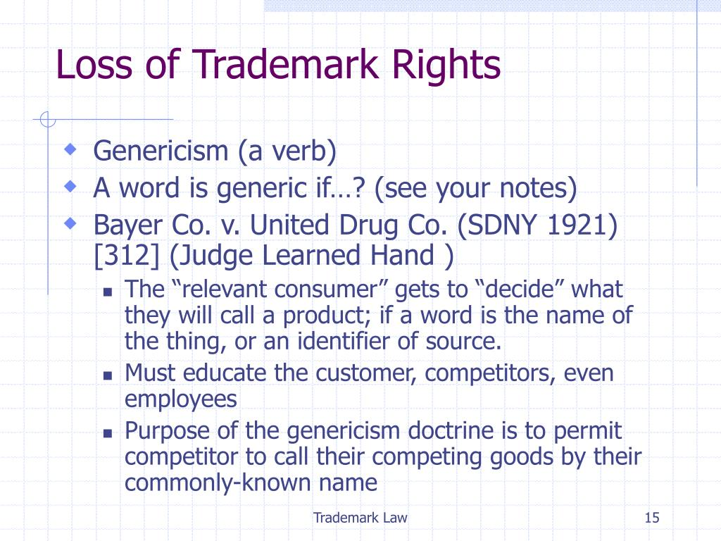 Loss of Trademark Rights