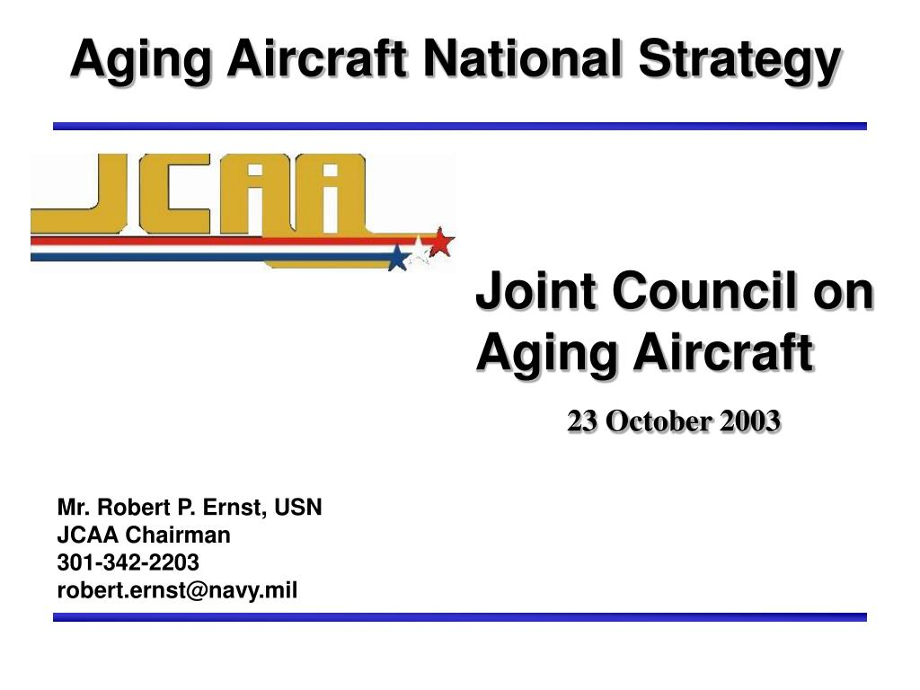 aging aircraft national strategy l.