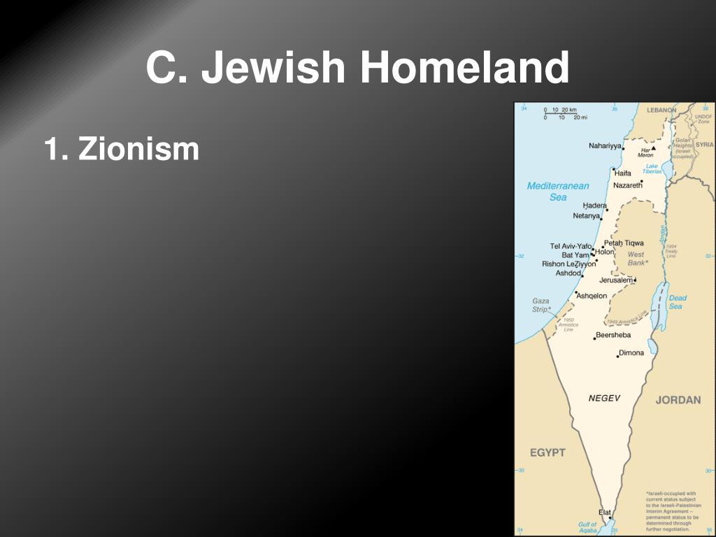 C. Jewish Homeland