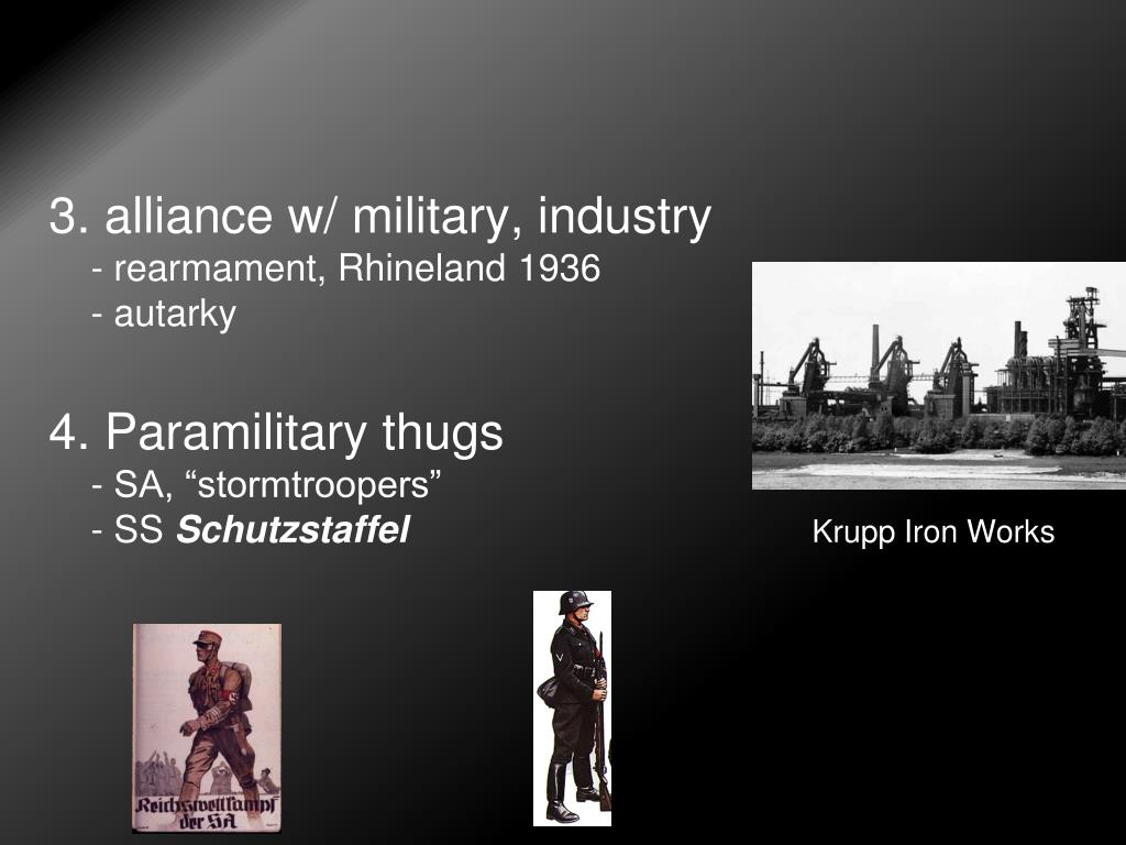 3. alliance w/ military, industry