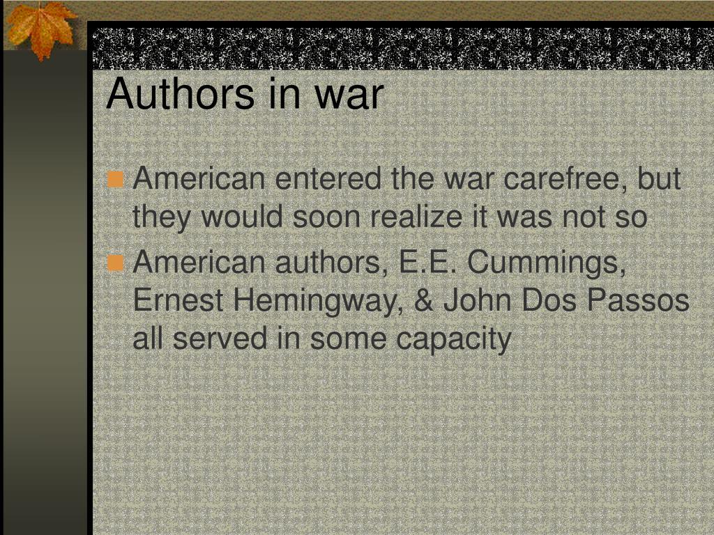 Authors in war