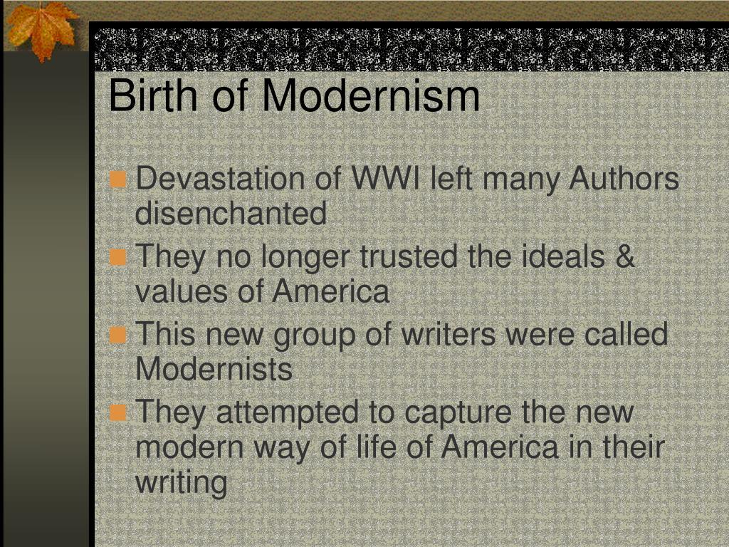Birth of Modernism