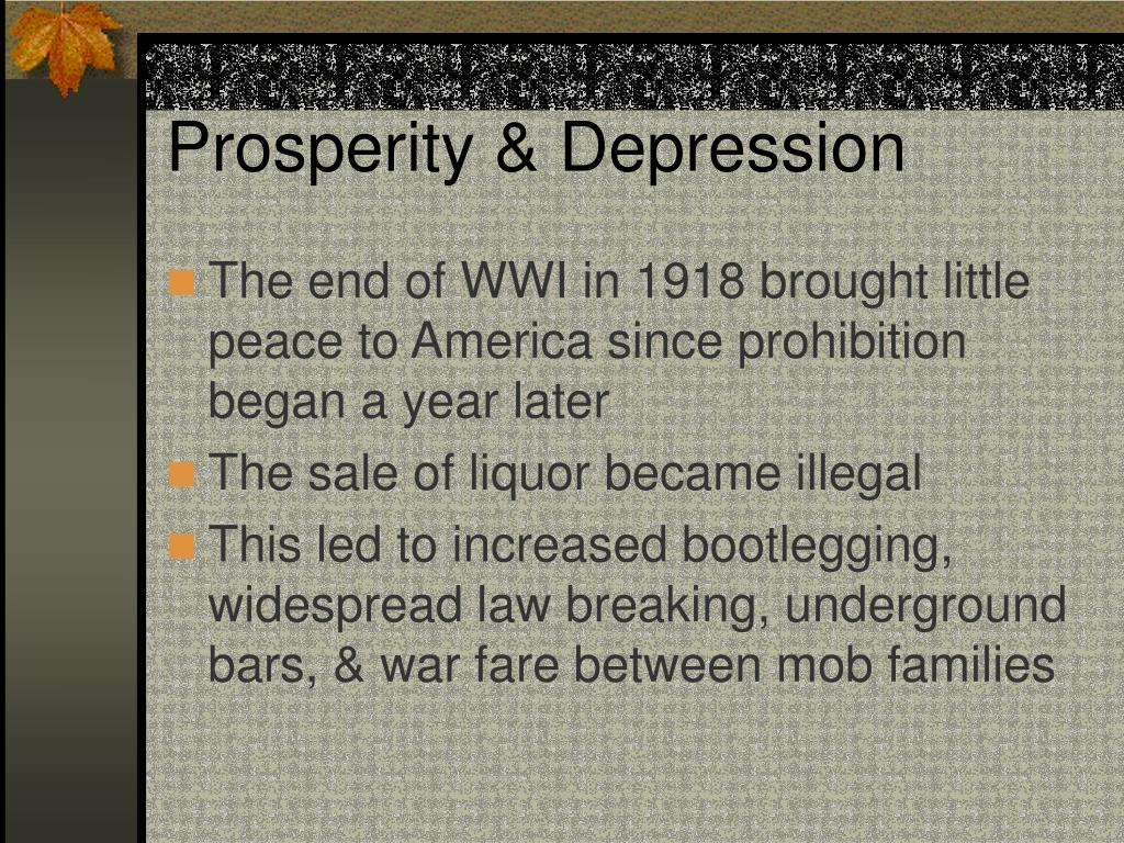 Prosperity & Depression