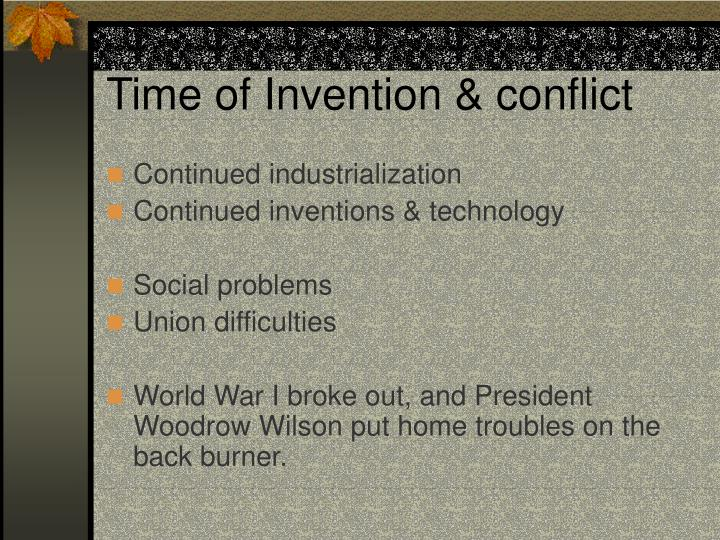 Time of invention conflict