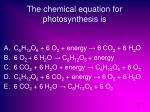 the chemical equation for photosynthesis is