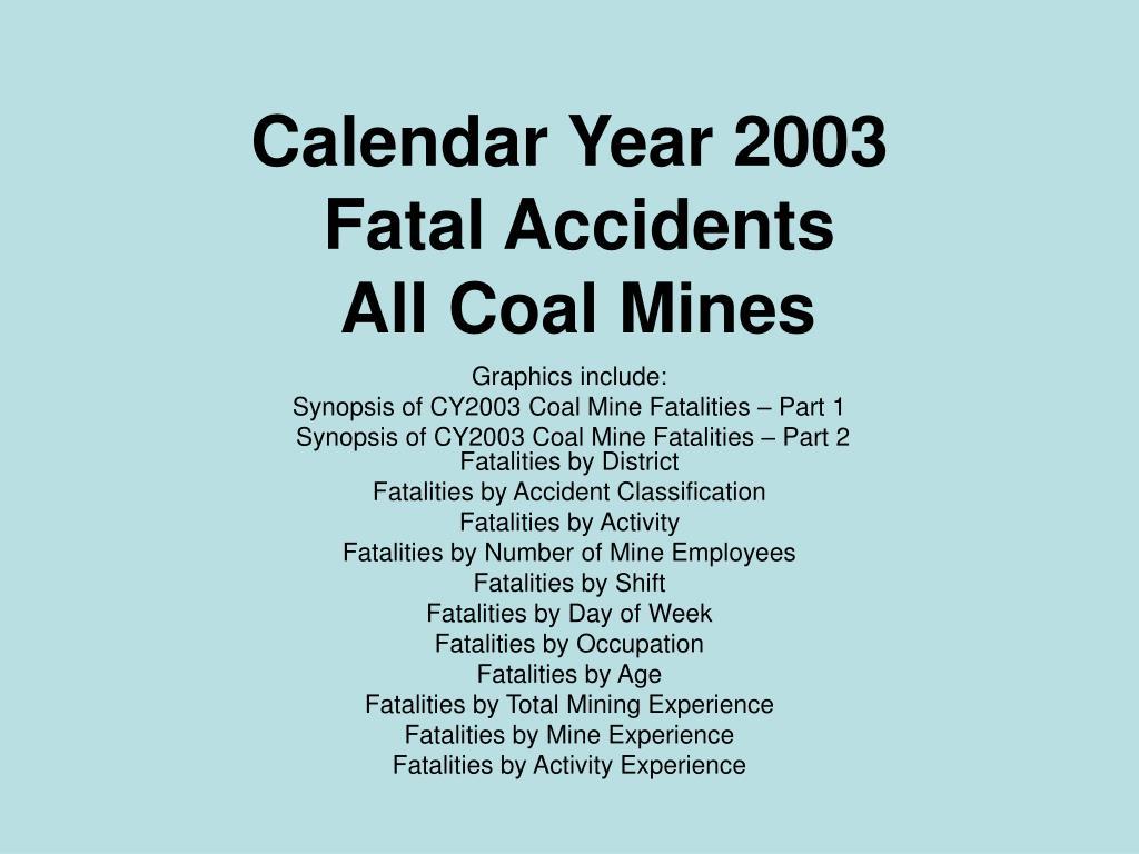 Calendar Year 2003