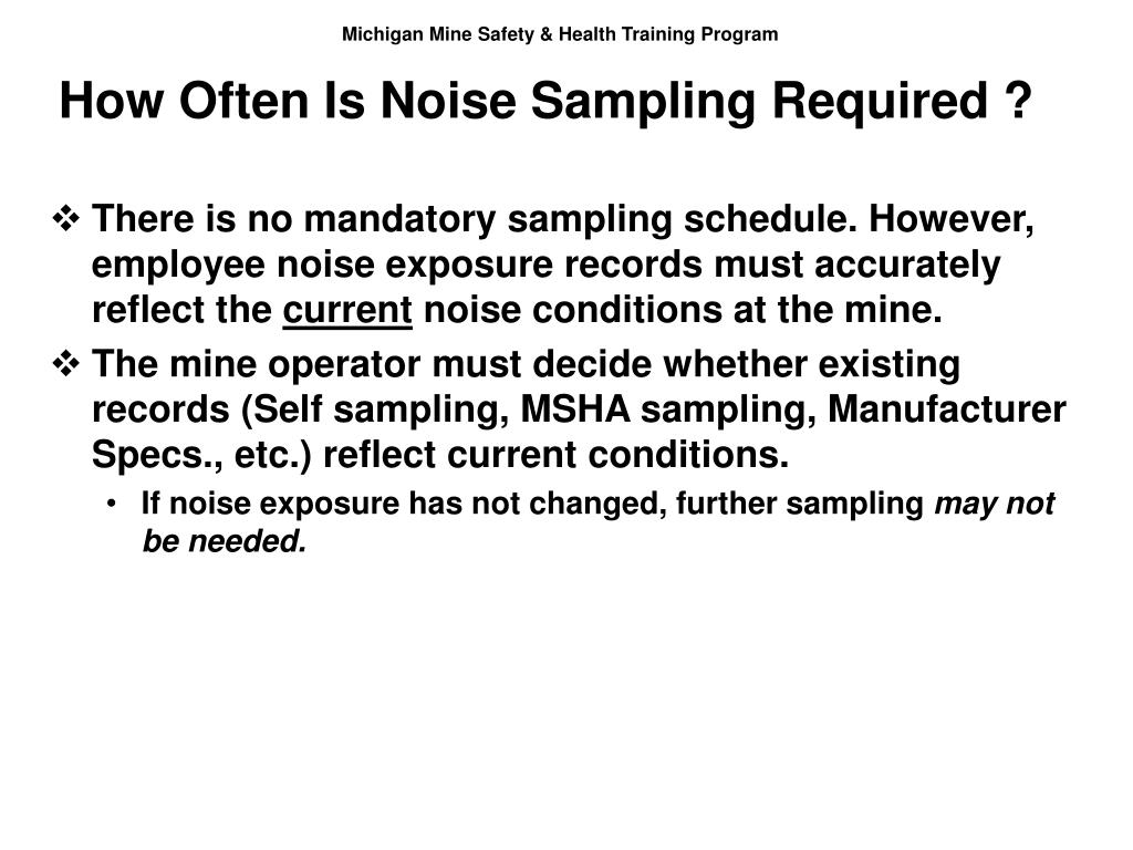 How Often Is Noise Sampling Required ?