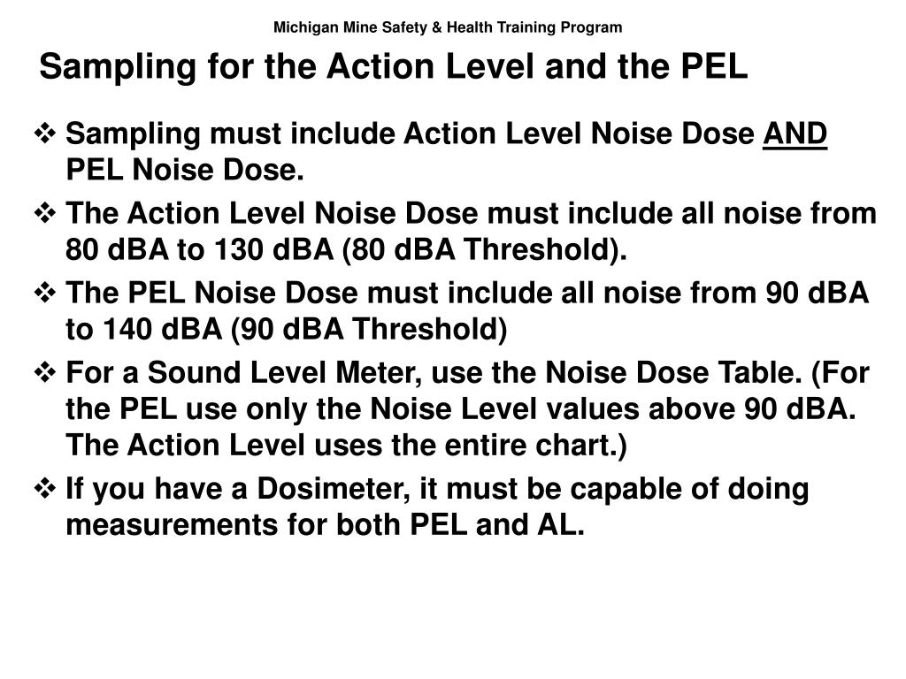 Sampling for the Action Level and the PEL