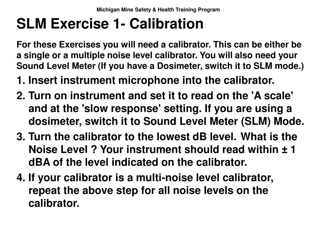 SLM Exercise 1- Calibration