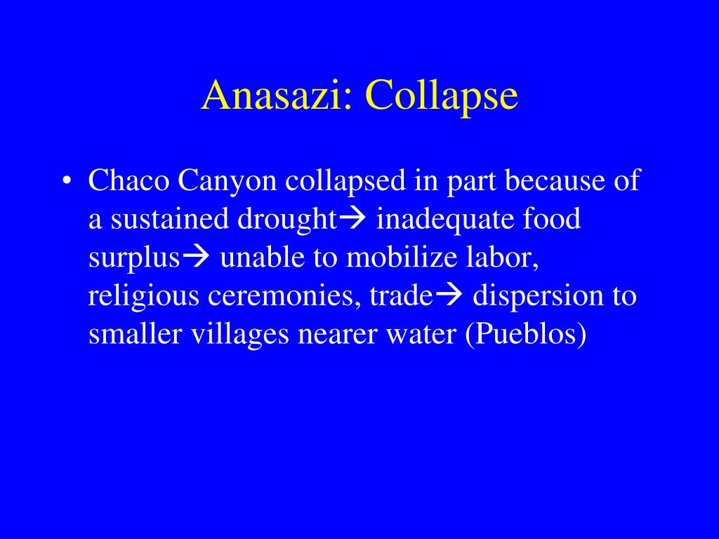 Anasazi: Collapse