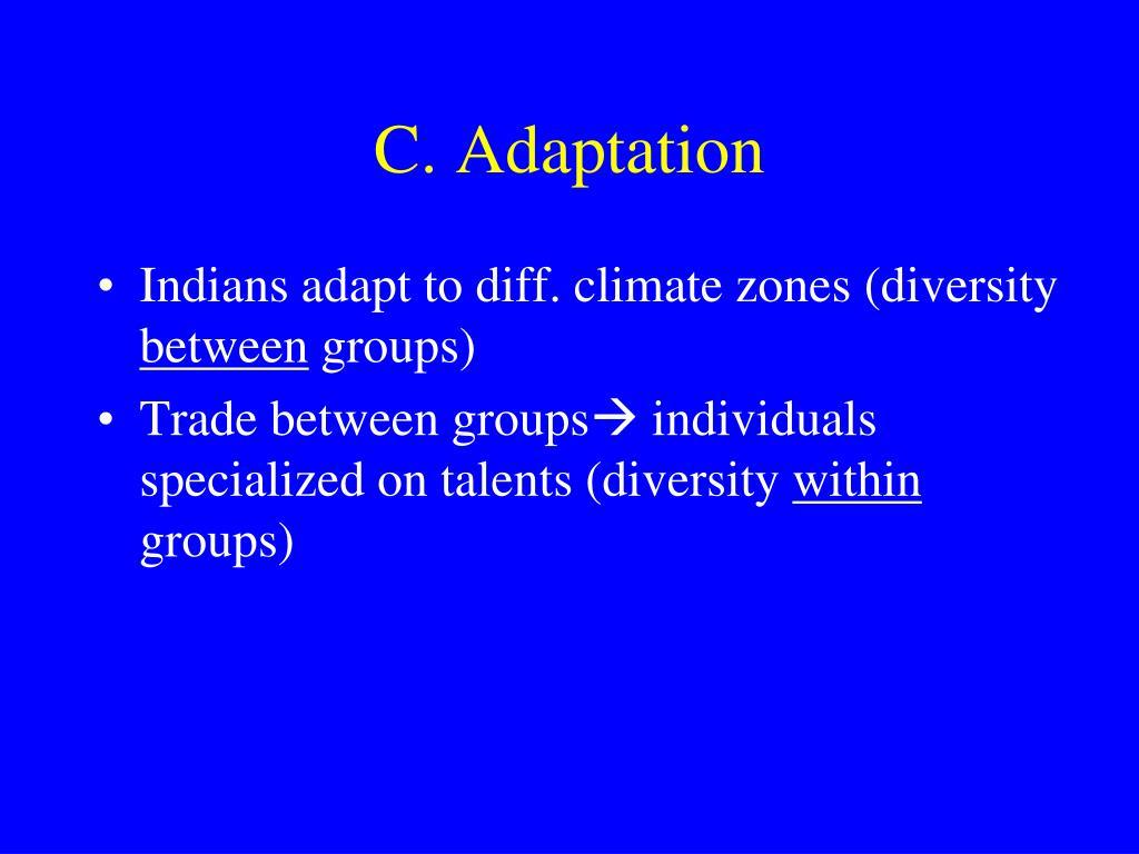 C. Adaptation