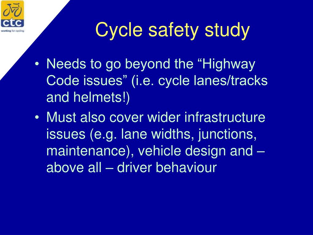 Cycle safety study
