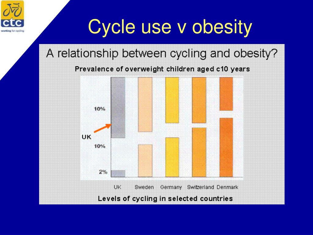 Cycle use v obesity