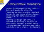 getting strategic campaigning