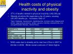 health costs of physical inactivity and obesity