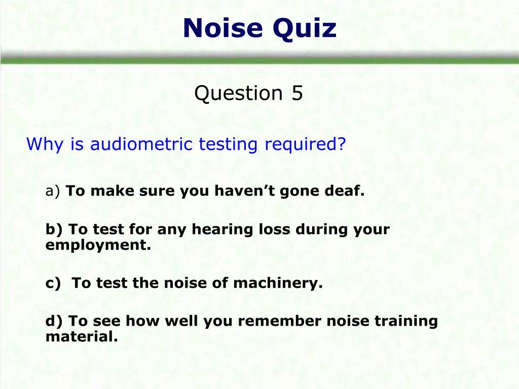 Noise Quiz