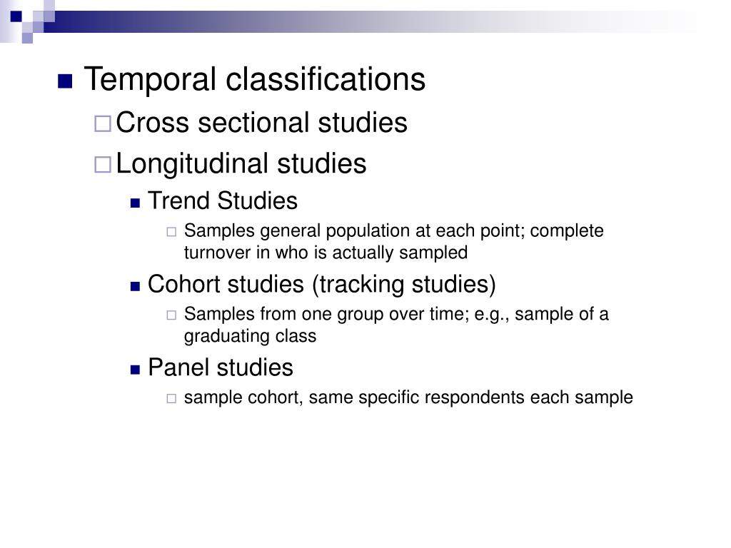 Temporal classifications