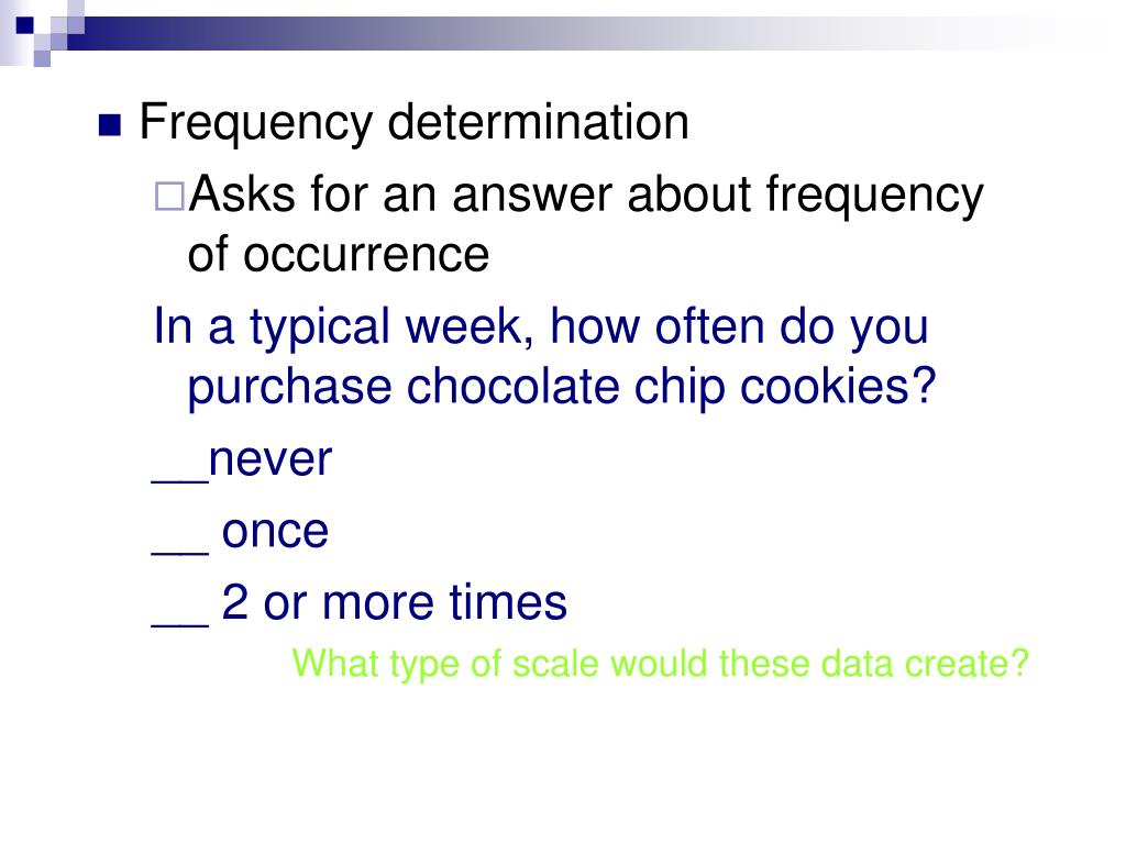 Frequency determination