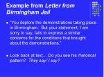 example from letter from birmingham jail