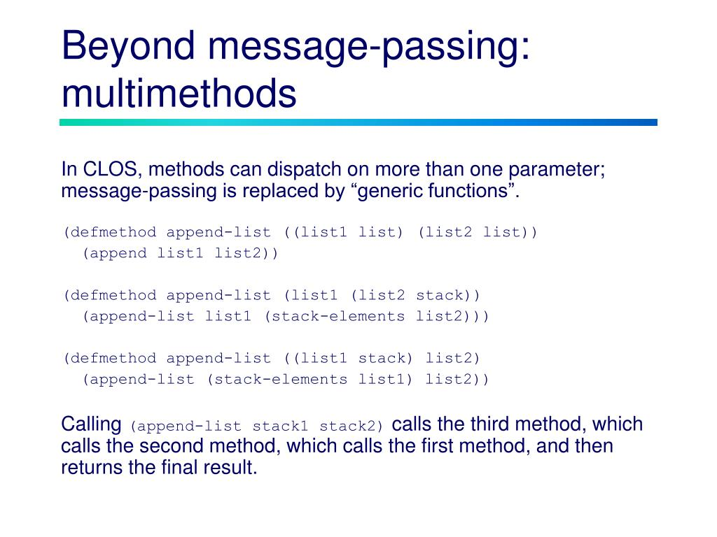 Beyond message-passing:
