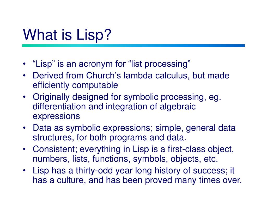 What is Lisp?