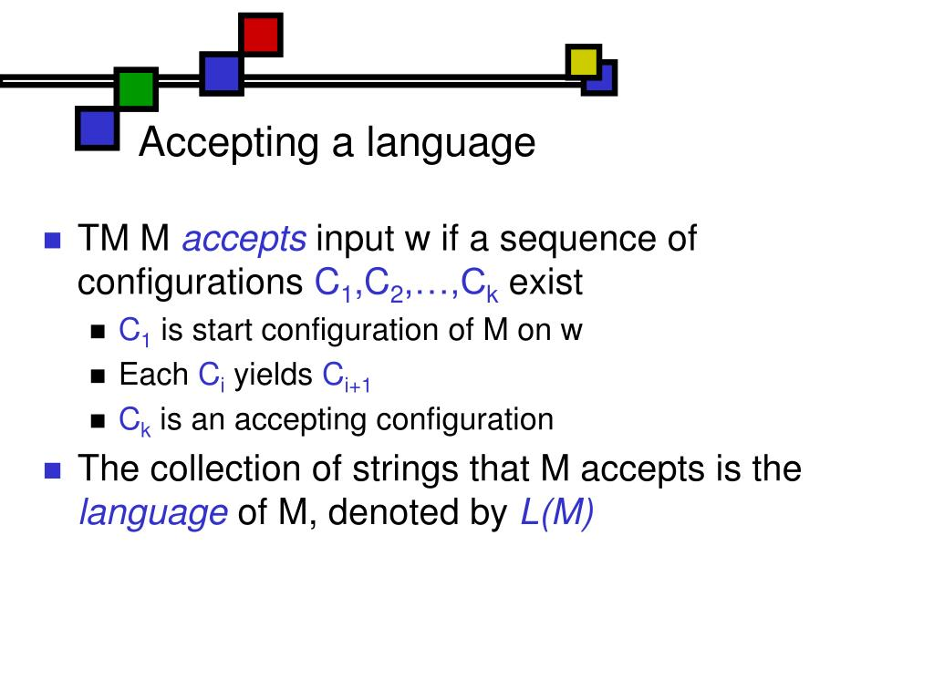 Accepting a language