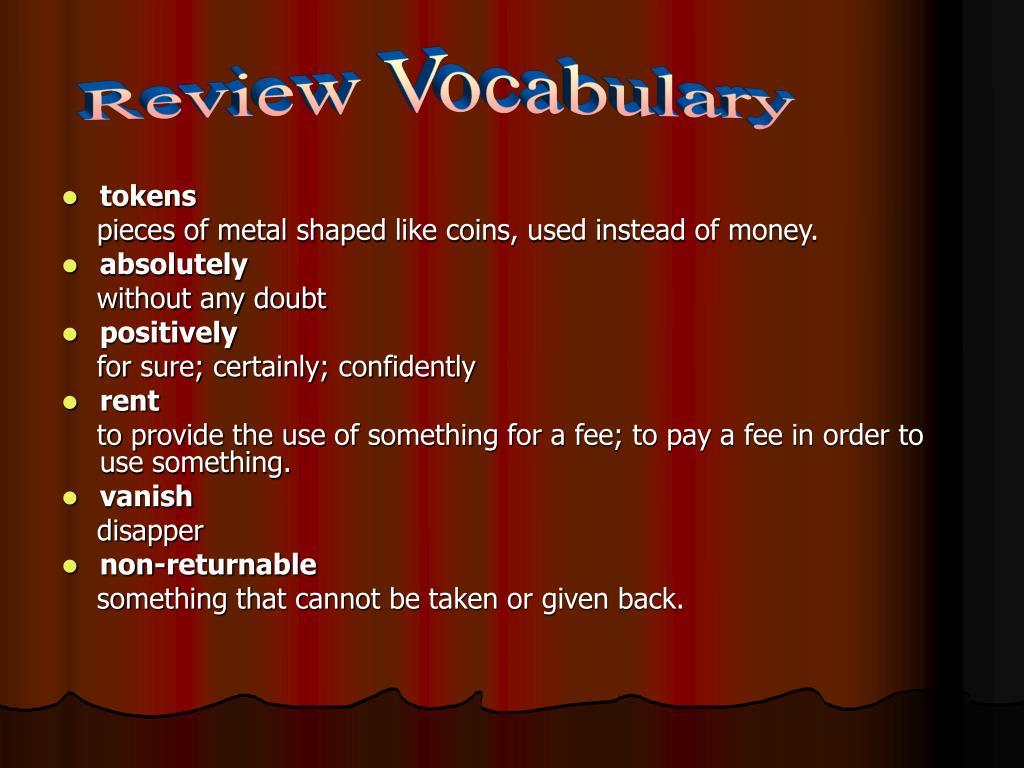 Review Vocabulary