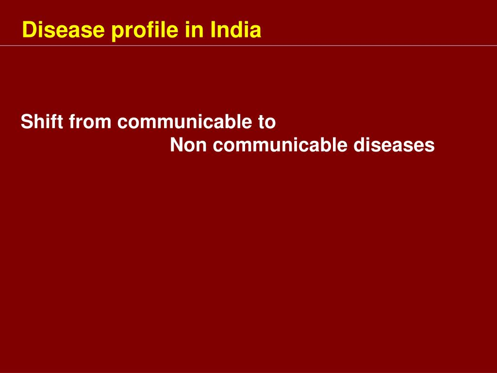 Disease profile in India