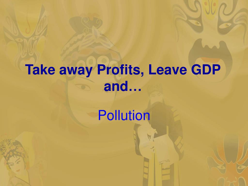 Take away Profits, Leave GDP