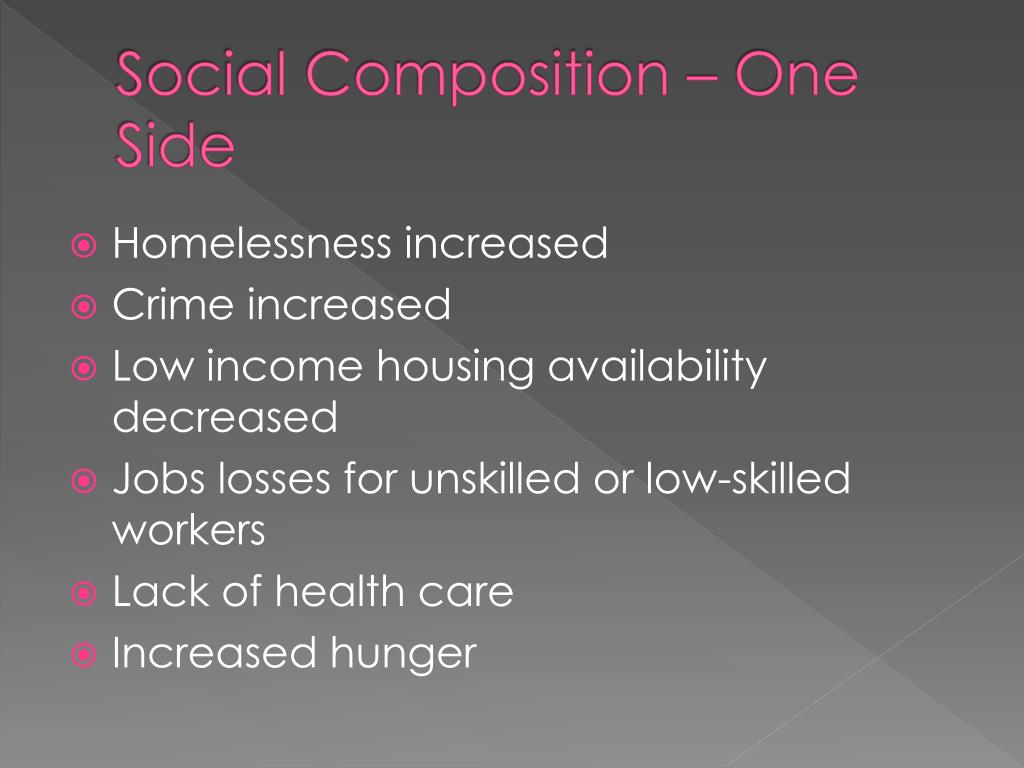 Social Composition – One Side