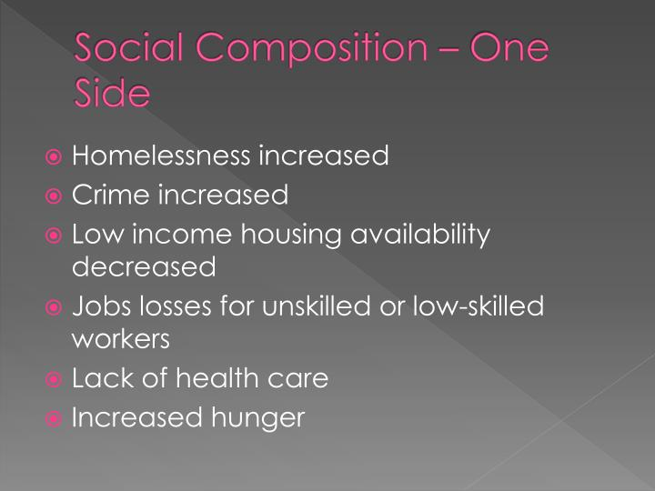 Social composition one side