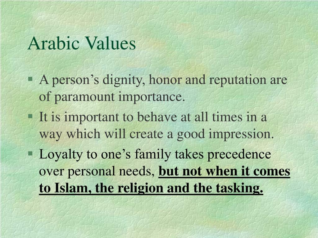 Arabic Values