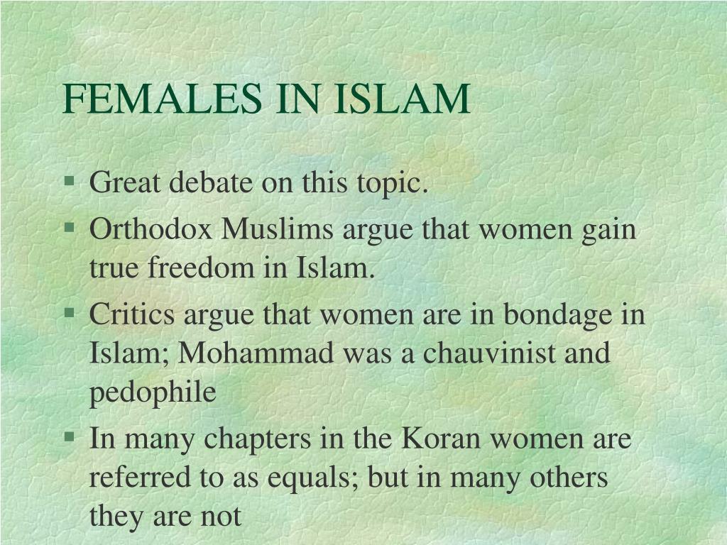 FEMALES IN ISLAM