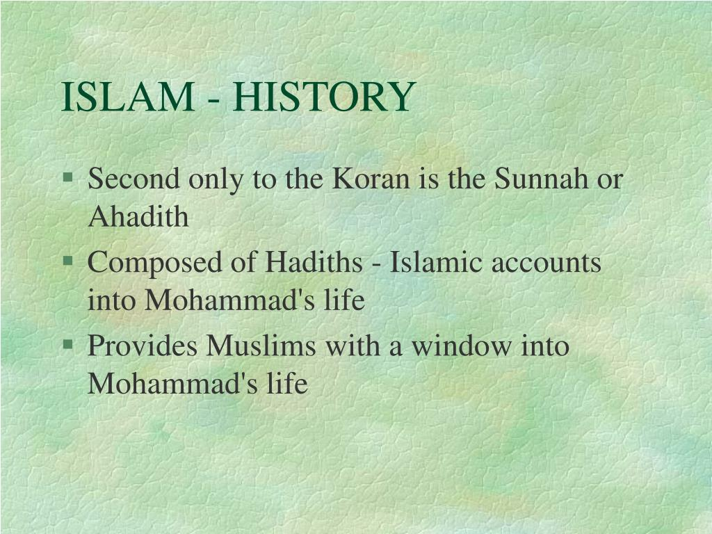 ISLAM - HISTORY