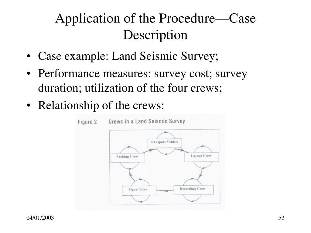 Application of the Procedure—Case Description