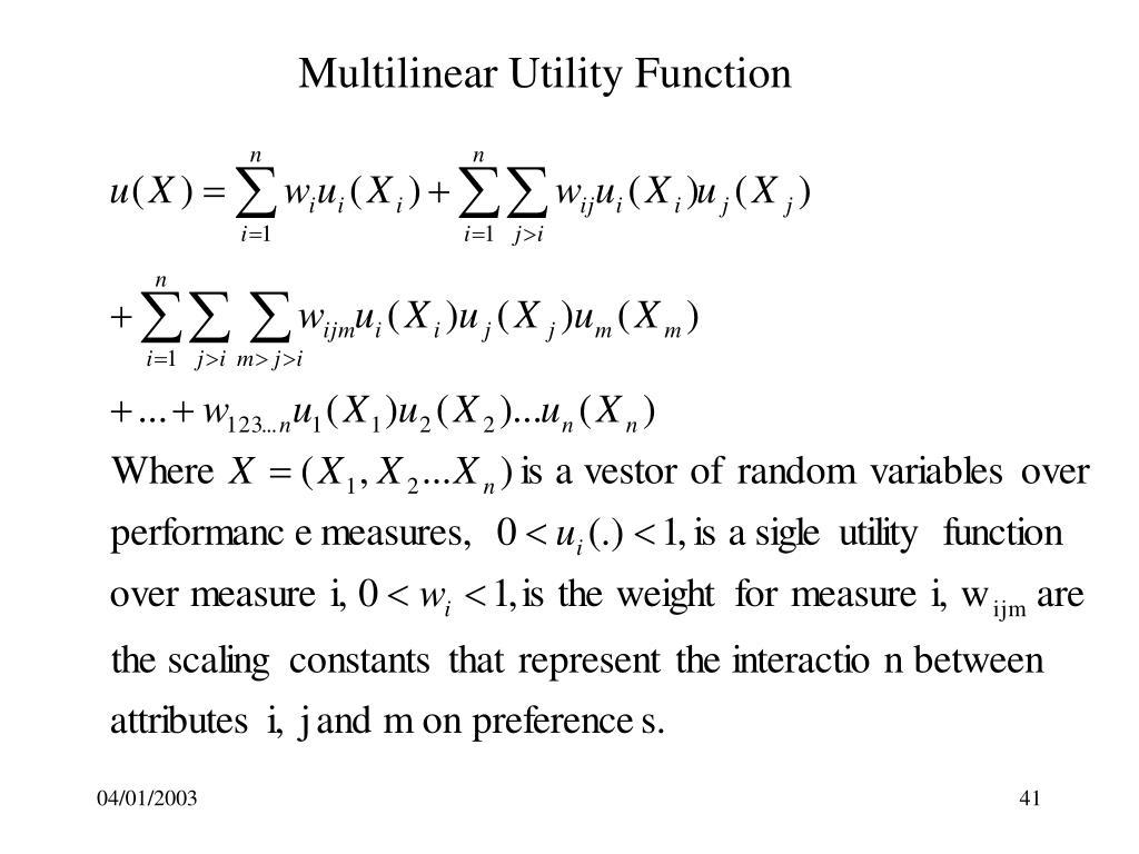 Multilinear Utility Function