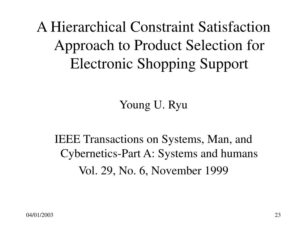 A Hierarchical Constraint Satisfaction Approach to Product Selection for Electronic Shopping Support