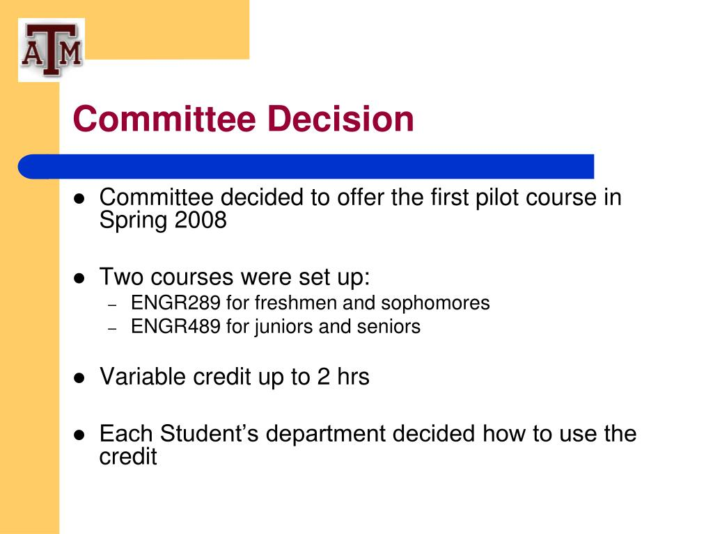 Committee Decision