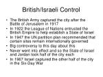 british israeli control