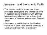 jerusalem and the islamic faith