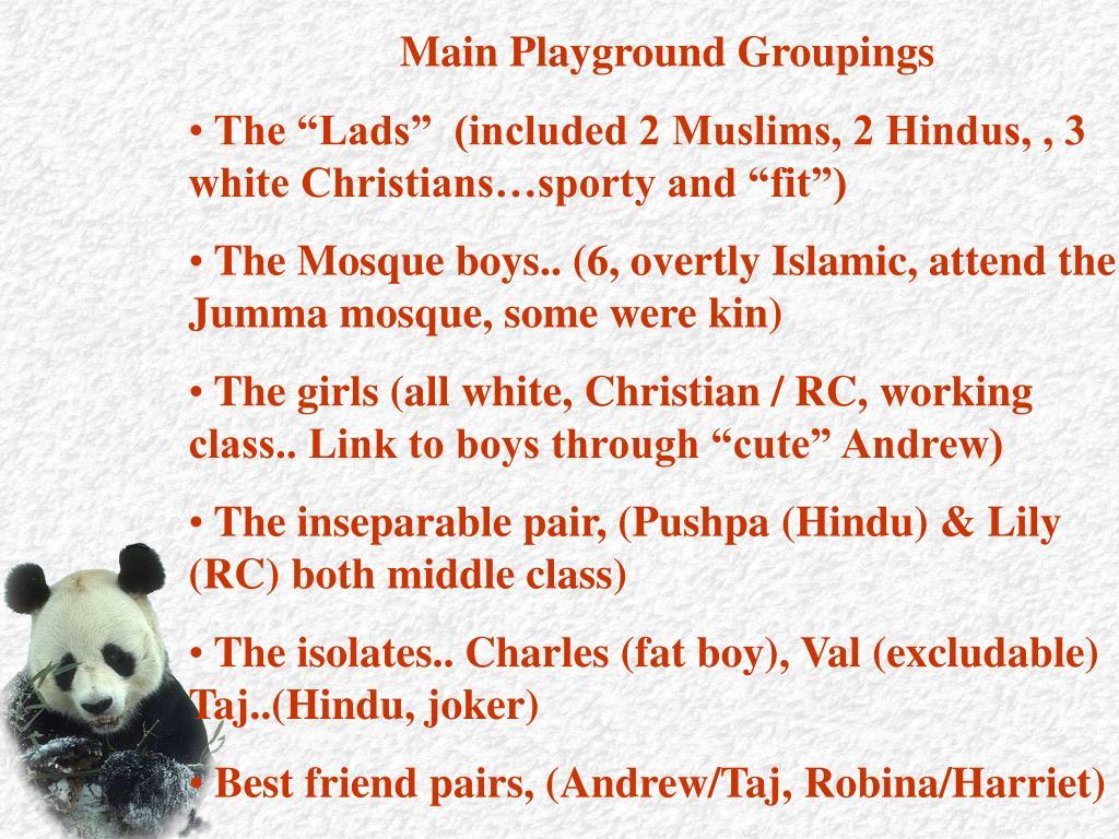 Main Playground Groupings