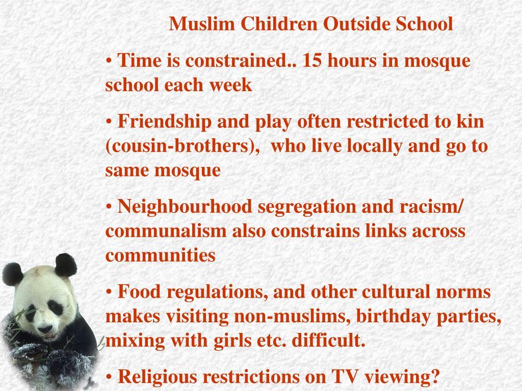 Muslim Children Outside School