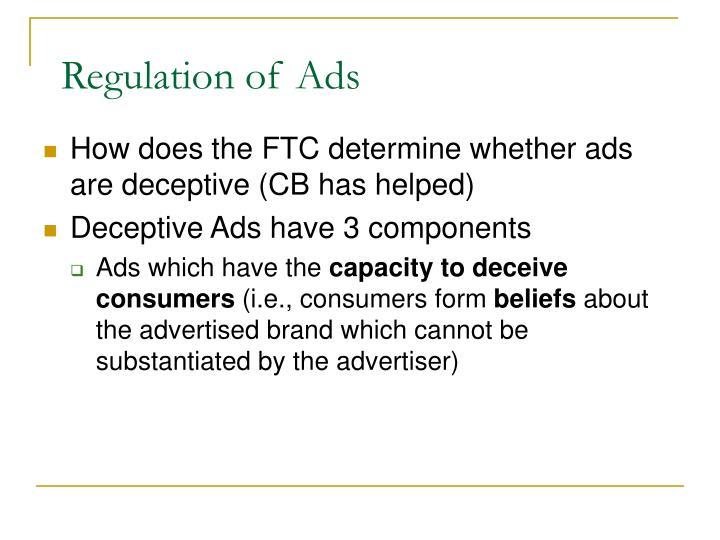 Regulation of Ads