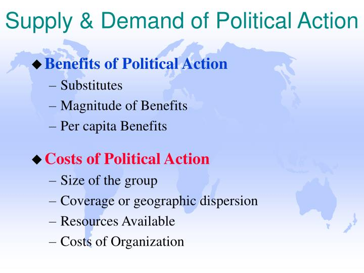 Supply & Demand of Political Action